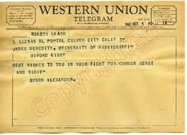 "Byron Alexander to ""James Meredity"" (3 October 1962)"" by Byron Alexander"