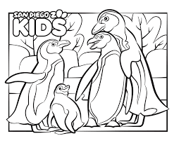 I made a fireworks coloring sheet last night, in case you want to get in the mood for 4th of july! Coloring Page African Penguins San Diego Zoo Kids