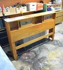 mid century modern headboard with sliding stained glass doors