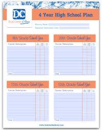 4 Year Plan Template Four Year High School Plan Template School Plan