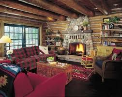 Nothing says rustic more than a stone fireplace, especially when set next  to wood paneled or log walls. Rustic cabin decor ...