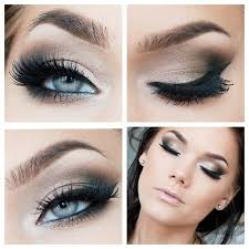 glamour makeup with prom eye makeup tutorial with smokey eye false lashes i love cute