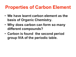 Properties of Carbon Element - ppt video online download