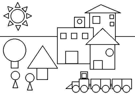 Small Picture Shapes Coloring Page Free Worksheets Shape Color Pages Free Math
