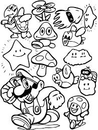 Dessin Super Mario Bros A Imprimer