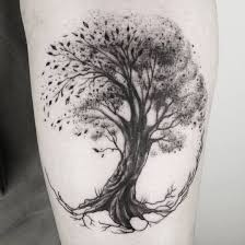 Tattoo Uploaded By Pechschwarz Tätowierungen Tree Tattoo By Katrin