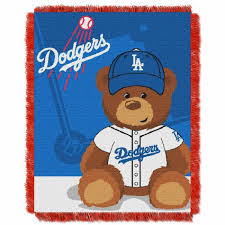 los angeles dodgers mlb field baby throw