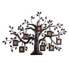 adeco decorative family tree bronze metal wall haning collage picture frame 8 opening