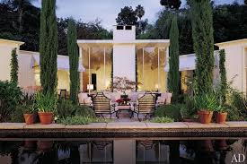 the pool and terrace serve as the focal point of designer greg jordan s v shaped