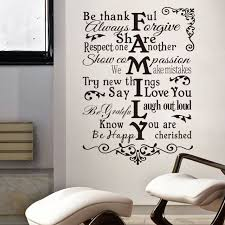 Small Picture Aliexpresscom Buy 57X80cm Removable Family Words Quote Wall