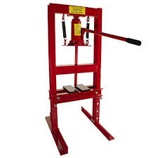 dragway tools 6 ton hydraulic floor press with press plates and h frame is