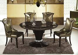 luxury round marble dining table for 4 gold dining chairs above
