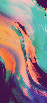Iphone Xr Coral Wallpaper Paint Art ...