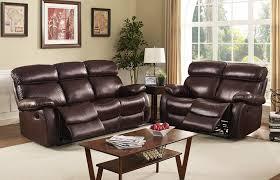 Orange Living Room Set Dante Collection Leather 2 Piece Dark Brown Living Room Set