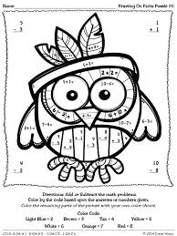 turkey math coloring pages turkey math coloring pages feasting on facts thanksgiving color by the number