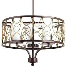 art deco chandeliers lighting the home depot cirrine collection 3 light antique bronze chandelier with etched