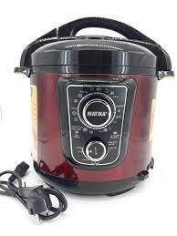 Nồi áp suất điện Matika 6L 1000W có điều chỉnh áp màu đỏ đen MTK - 9262 -  HÀNG CHÍNH HÃNG   Ngọc Xanh