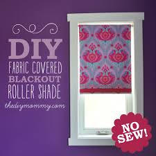 fabric window shades diy. Delighful Shades DIY NoSew Fabric Covered Blackout Roller Blinds By The Mommy Just Use In Window Shades Diy