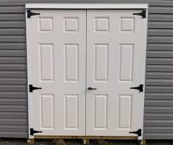our shed doors are acquired from a major distributor to the amish shed builders shed doors are modified exterior house doors with 6 blocks of wood