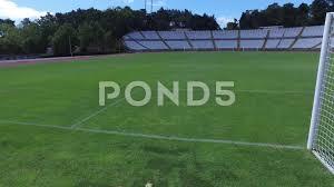 grass soccer field with goal. Video: Goal Net Stadium Soccer Football Field Turf Steady Shot Gimbal 4k ~ #67354984 Grass With O