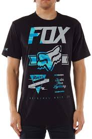 fox racing mens crinkle t shirt black