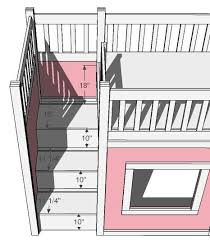 bunk bed with stairs plans. Contemporary With Alluring Bunk Bed Plans With Stairs Ana White Storage For The Regard To  Designs 12 Inside R