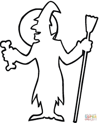 Small Picture Halloween Witch Outline coloring page Free Printable Coloring Pages