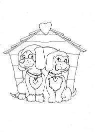 Small Picture Dogs Coloring Pages Online Dogs in Love Coloring Page Dog in