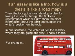 how to write a thesis statement ppt  if an essay is like a trip how is a thesis is like a road