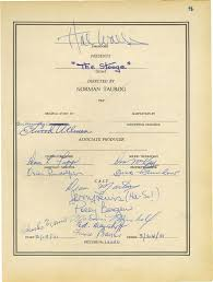 Co-signers Signed Item With The Movie Document Cast - 275003 Historyforsale Stooge