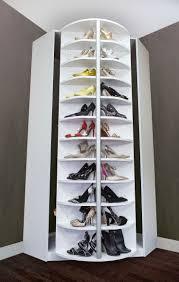 wonderful diy lazy susan shoe storage rack