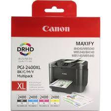 Комплект оригинальных <b>картриджей Canon PGI</b>-<b>2400XL</b> BK (с ...