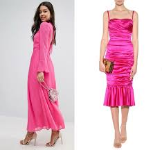 3. pink dress and nude shoes