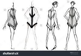Selection Fashion Design Contest Sketch Fashion Model Selection Decoration Short Stock