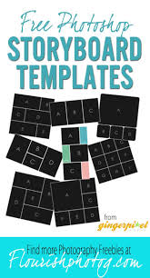 17 best ideas about photography templates 8 photoshop storyboard collage templates from gingerpixel photography