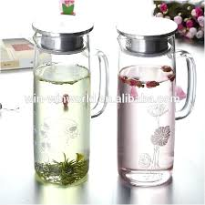glass water jug with lid packaging mouth blown clear glass water jug with lid glass glass water jug with lid