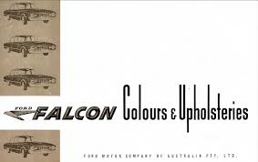 Ford Falcon Colour Chart 1960 Ford Xk Falcon Colour Chart
