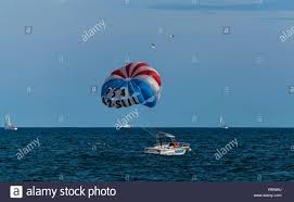 Fort Lauderdale Parasail Parasailing Boat With Parasail Fort Lauderdale Florida Stock