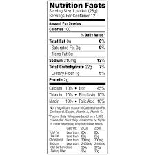 quaker oats instant er grits nutrition facts photos
