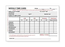 weekly time card amazon com double pack employee weekly time card 100 sheets per