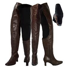 arge lb7060 las thigh high boots brown leather