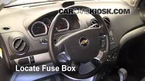 interior fuse box location chevrolet aveo  locate interior fuse box and remove cover