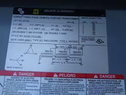 Sorgel Transformer Chart Square D Sorgel 45 Kva Hv480 Lv208y 120 Volts Cat 45t3h 3