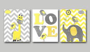 on baby wall art prints with yellow and gray baby boy nursery art print children wall art