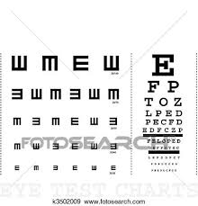 Vector Snellen Eye Test Charts For Children And Adults Clip