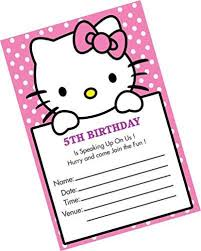 o kitty birthday invitation card