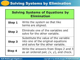 objective b to solve systems of equations by the