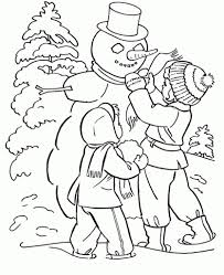 Small Picture Winter Coloring Pages Beautiful Christmas Tree On Winter Coloring