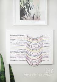 make your own unique embroidered canvas art it s simple to make and has interesting texture on design your own wall art canvas with diy embroidered canvas wall art persia lou