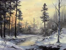 winter landscape in oils